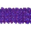 Sequin Stretch 5Row Hologram Dark Purple